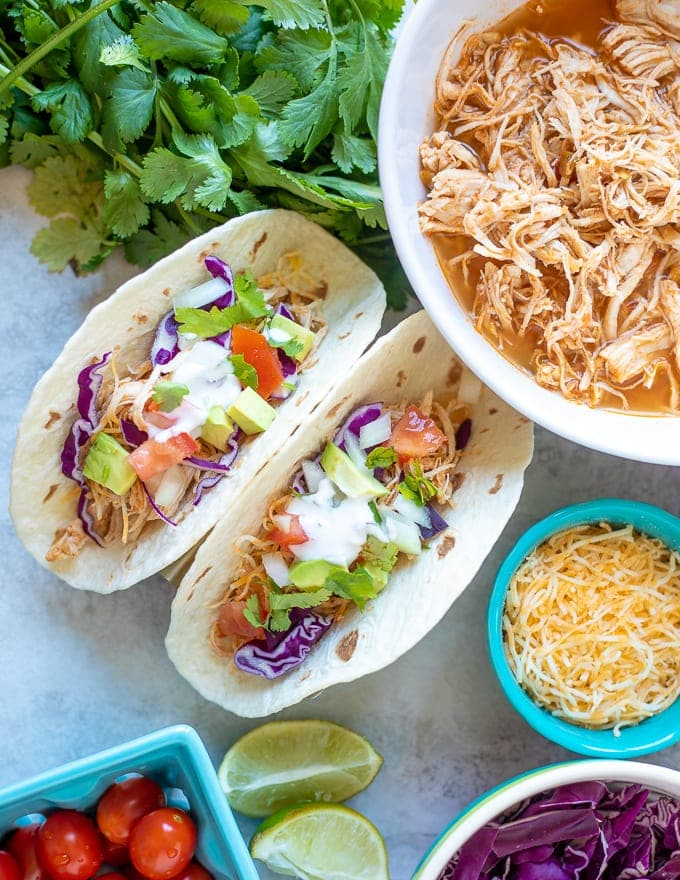 The Best Instant Pot Chicken Tacos A Mind Full Mom