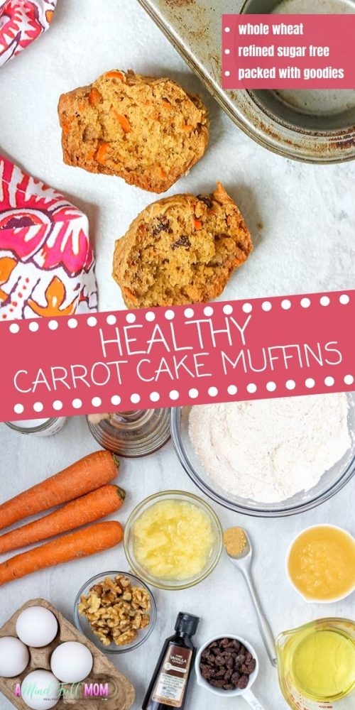These are the BEST Carrot Cake Muffins. Made with 100% whole grains and naturally sweetened, classic carrot cake muffins have been given a healthy makeover but are still 100% delicious! The muffins are jam-packed with shredded carrots, plump raisins, pineapple, and walnuts. They are perfectly spiced and make a deliciously wholesome treat, perfect for an afternoon snack or as part of an Easter Brunch. Egg Free Modification Included.