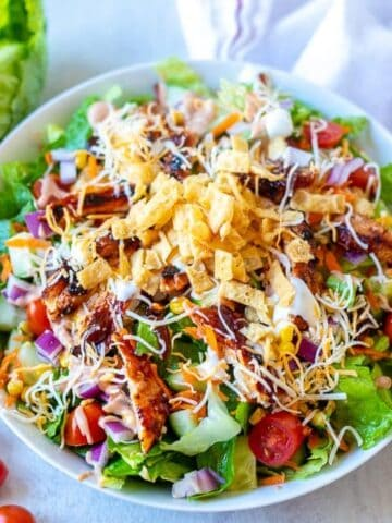 Bowl of BBQ Chicken Salad