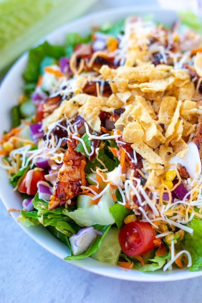salad chicken bbq bowl grilled barbecue panera recipe chips