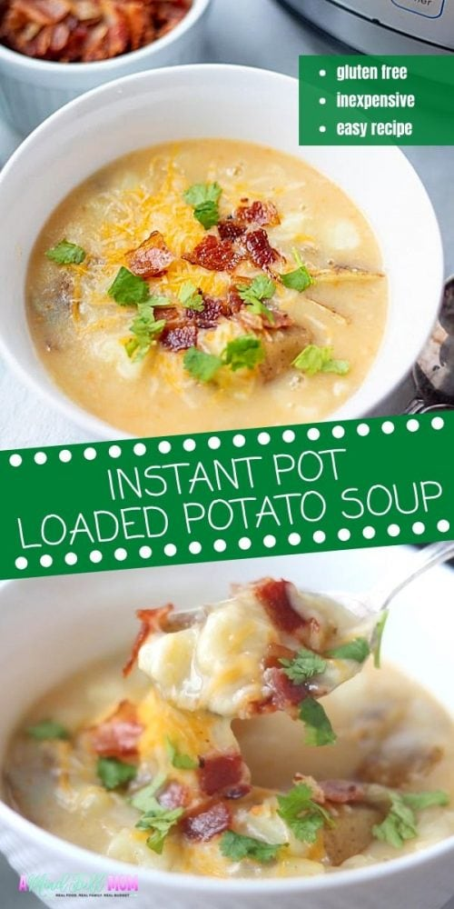 Instant Pot Potato Soup is exactly the comfort you crave on a cold day!