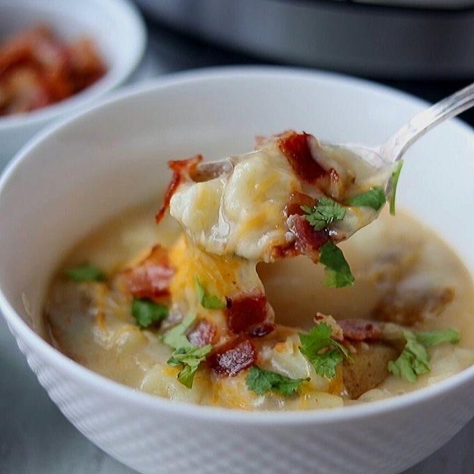 Spoonful of Instant Pot Potato Soup