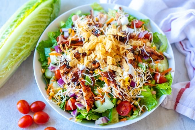 The Best Bbq Chicken Salad Recipe A Mind Quot Full Quot Mom