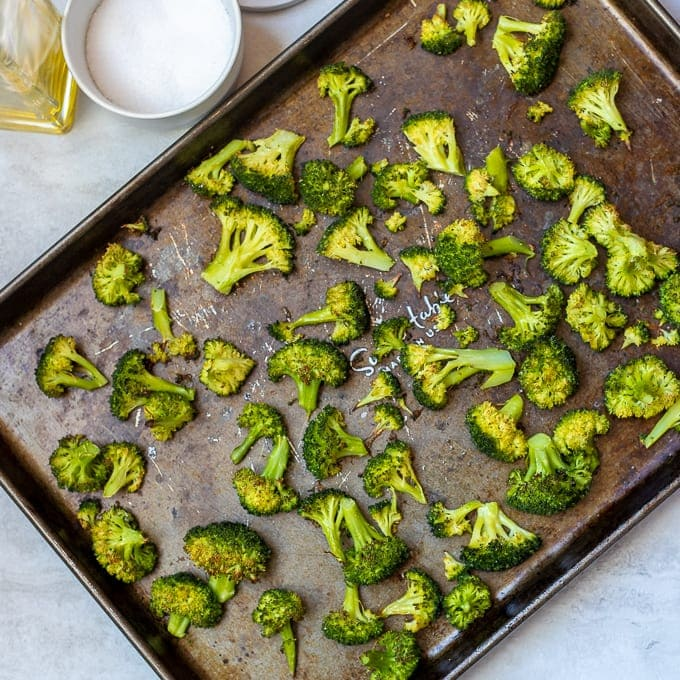 Roasted Broccoli on sheet pan