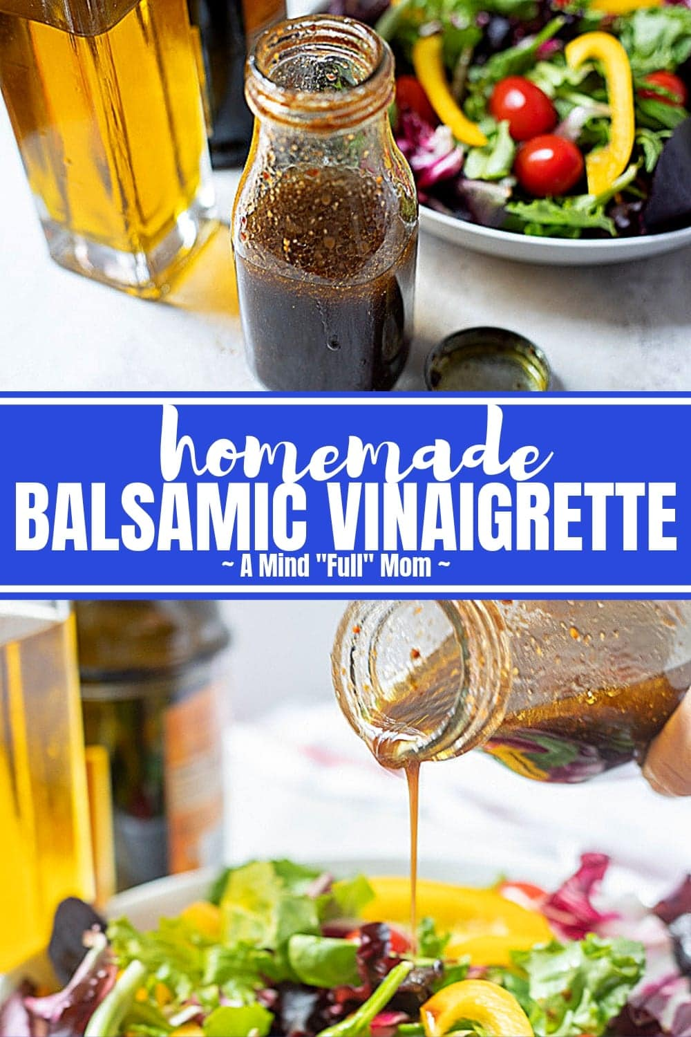 This Balsamic Vinaigrette is the most versatile salad dressing recipe. From topping tossed salads, to marinating meet, to using to dip fresh bread, this Balsamic Dressing will be your go to salad dressing.