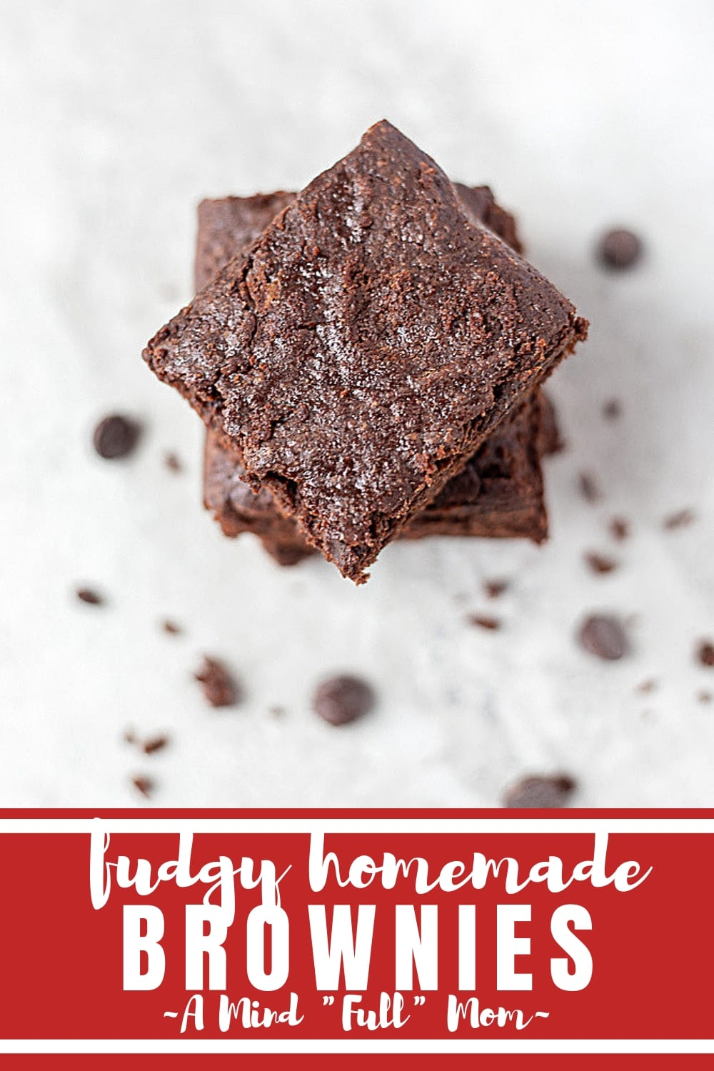 Ditch the boxed brownie mix, as this recipe for Easy Homemade Brownies makes fudgy, soft, moist brownies full of rich chocolate flavor! #brownies #fromscratch
