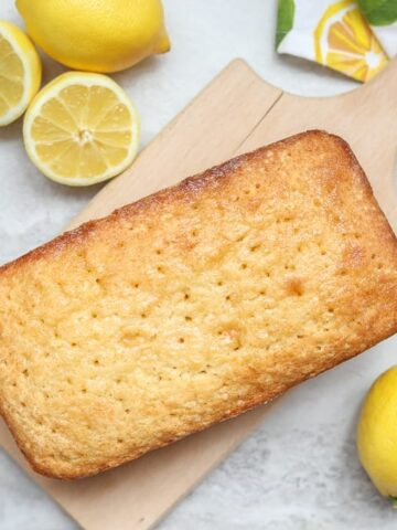 Lemon Bread on Wooden Cutting Board