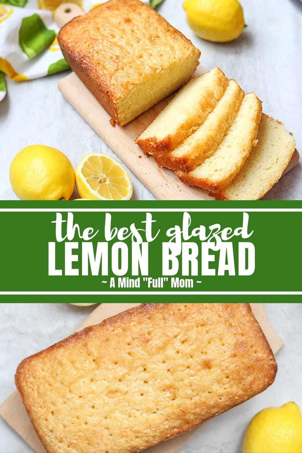 This is the BEST recipe for Lemon Bread Ever that comes straight from my great, great grandma's recipe box. This lemon bread is tender, moist, and full of bright lemon flavor and finished with a sweet glaze.