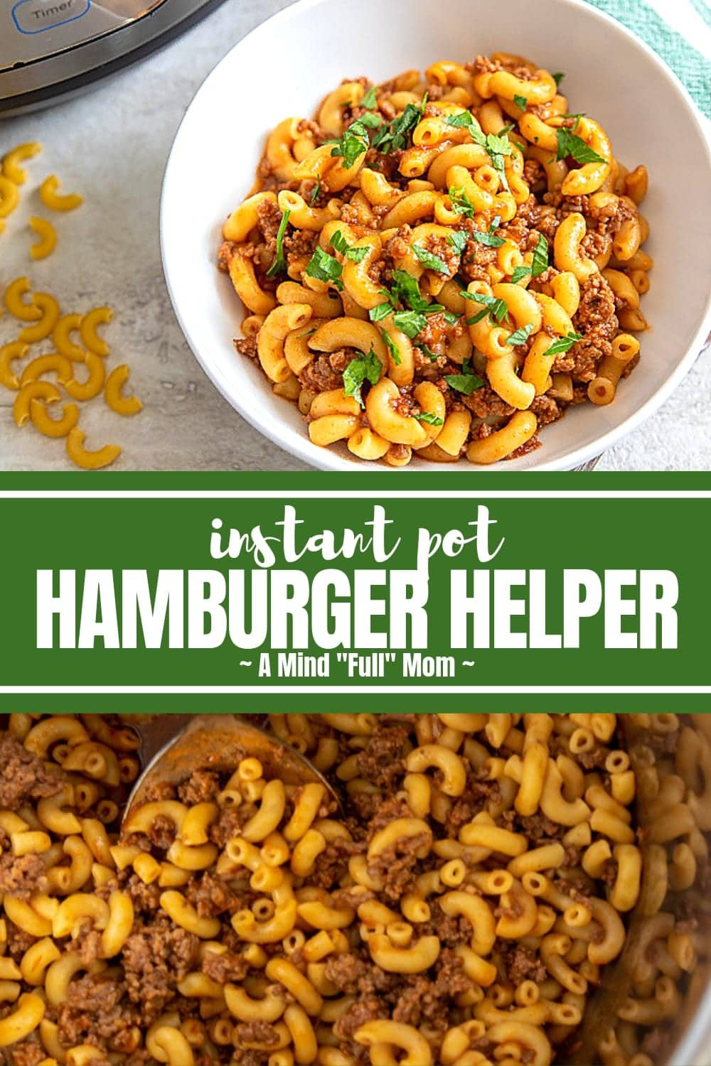 Instant Pot Hamburger Helper is sure to become a family favorite! This easy version of Hamburger Helper, or American Goulash, is ready in less than 30 minutes from start to finish and made entirely in the pressure cooker.