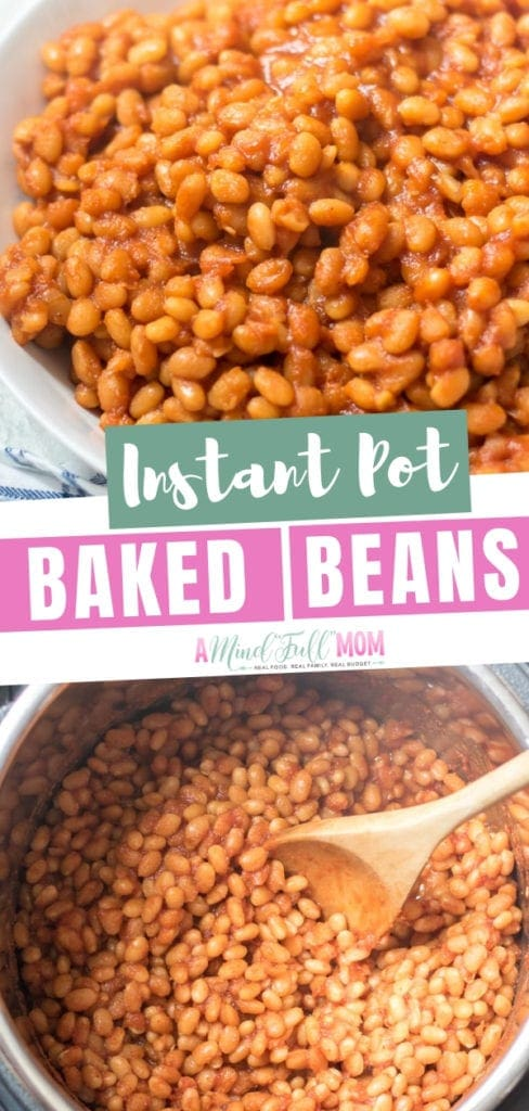 """Delicious baked beans from scratch made from dried beans in the pressure cooker! It is extremely easy to make """"baked"""" beans right in the pressure cooker. Try these vegetarian baked beans good for you!"""