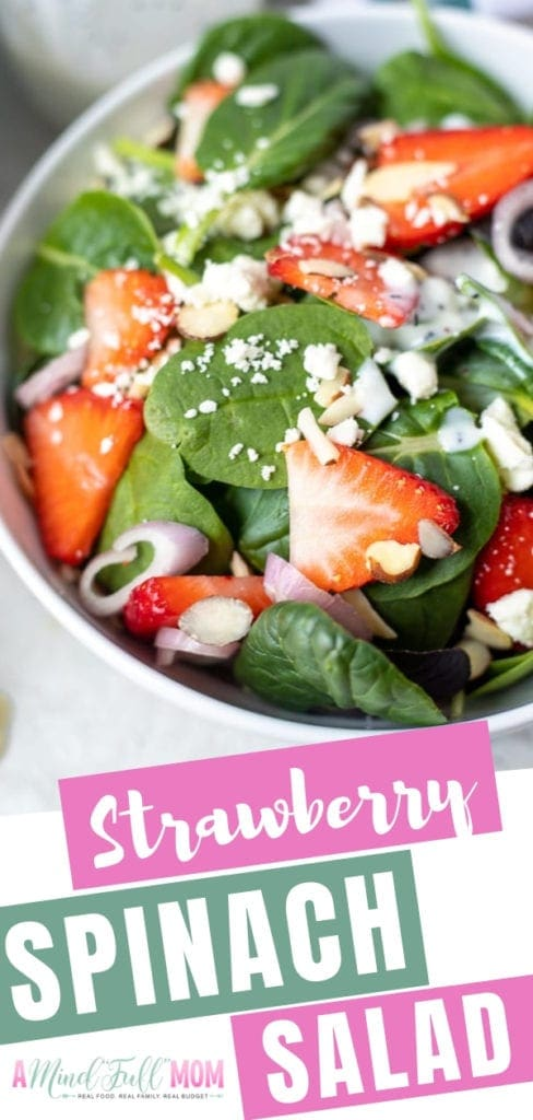 One of the best salad recipes with the fresh spinach, strawberries, almonds, and feta with a creamy poppy seed dressing. This easy Strawberry Spinach Salad recipe is light, fresh, bright, and oh so tasty! Try them for brunch, lunch, or any time of the day!