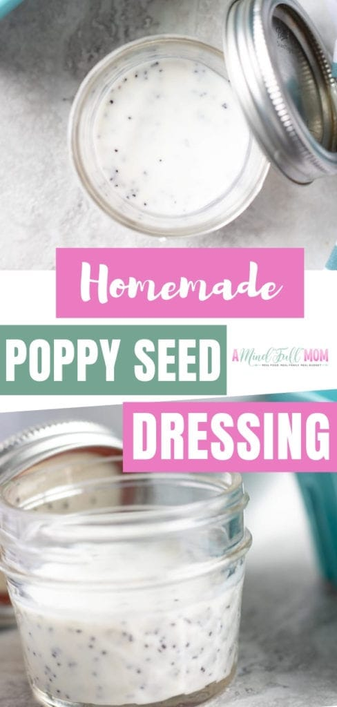 Sweet, tangy, and a perfect compliment to so many salads! This easy poppy seed dressing recipe liven up your salads without any guilt! It is the perfect easy poppy seed dressing for strawberry spinach salads. Try this homemade dressing recipe!