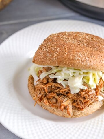 Pulled Pork on Whole Wheat Bun