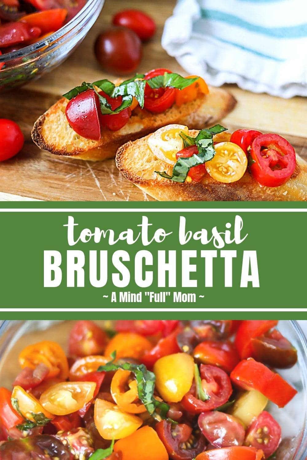 This is the best recipe for Tomato Bruschetta! Made with grape tomatoes, basil and toasted bread, this easy Bruschetta recipe makes a perfect appetizer for any gathering! #appetizer #bruschettta #easyrecipe #summer #Italian