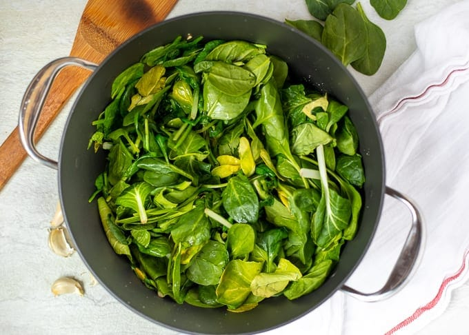 Wilted Spinach In Pan