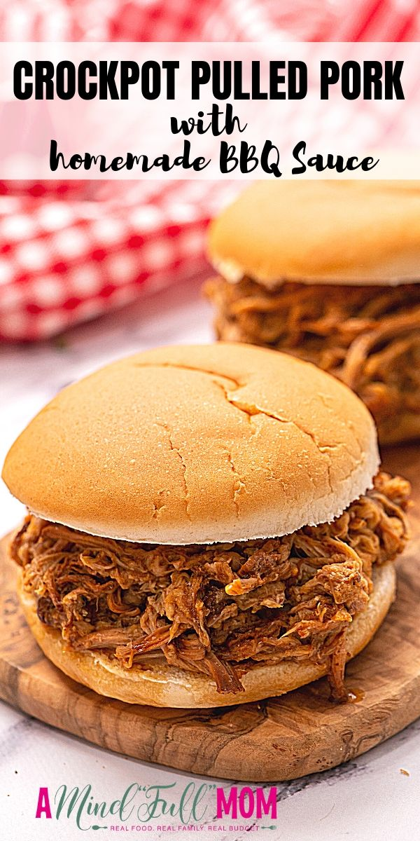 Slow Cooker Pulled Pork is one of the easiest, most delicious family meals. A pork roast is cooked low and slow in the crock-pot in a tangy, sweet, and slightly spicy homemade barbecue sauce that is simply irresistible. Perfect for entertaining!