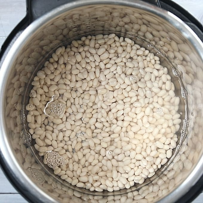 Dried Navy Beans in Instant Pot