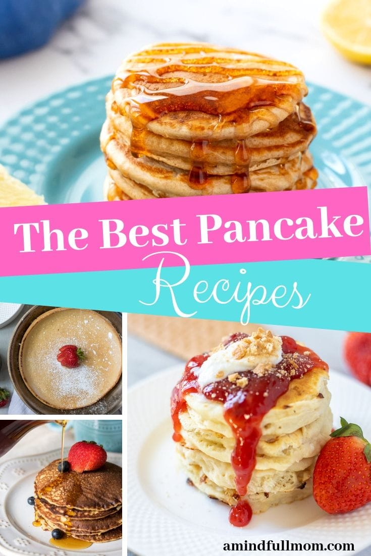 Pancake Lover? You will love these delicious pancake recipes! From traditional pancakes, to gluten free pancakes, to whole grain pancakes, you are sure to find the perfect pancake in this collection! Plus tips on how to make the most fluffy pancakes and how to freeze and store pancakes. These simple recipes for fluffy pancakes are perfect for any occasion.