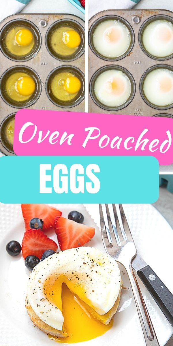 This hack will change your life!! Making poached eggs can be tricky, but not anymore with this easy hack for poaching eggs in the oven! You can easily make perfect poached eggs.