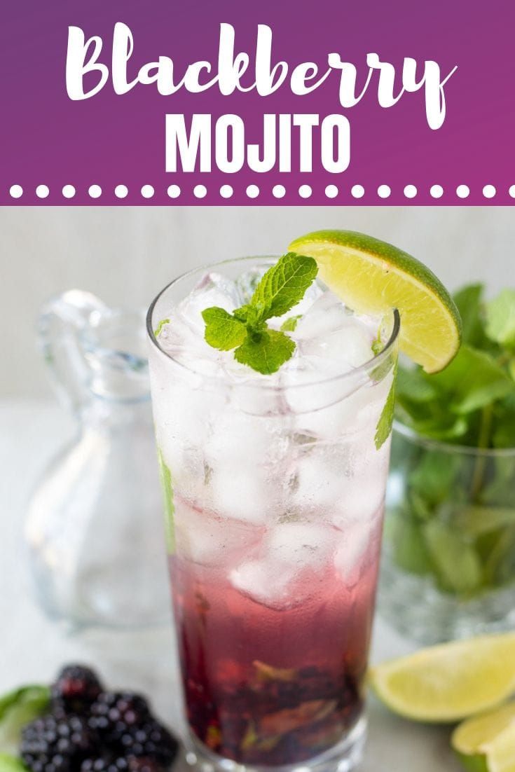 THE PERFECT Blackberry Mojito! This spin on a classic mojito is refreshing, light, and bursting with blackberry flavor!