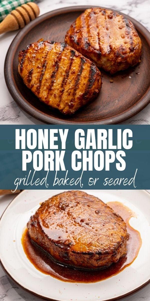 Honey Garlic Pork Chops Baked Or Grilled A Mind Full Mom