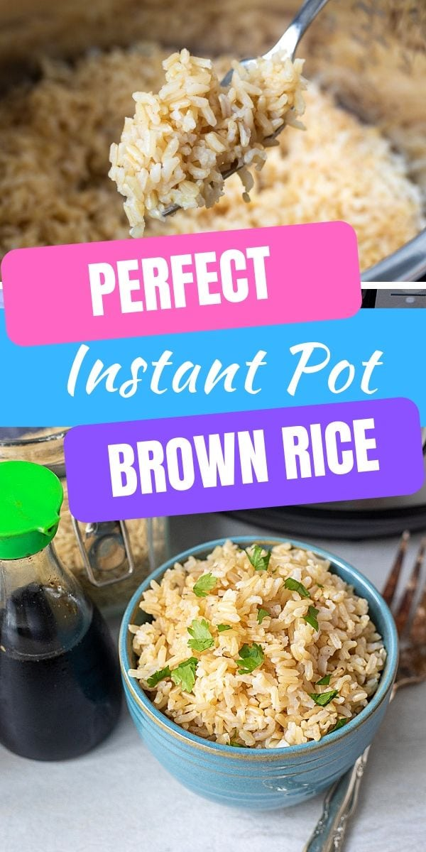 If you want to make brown rice in the Instant Pot, this is the PERFECT, fail-proof method for fluffy brown rice that does not stick to the bottom of your pressure cooker, this is the recipe for you!