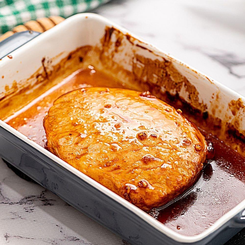 Baked Pork Chop in Honey Garlic Marinade