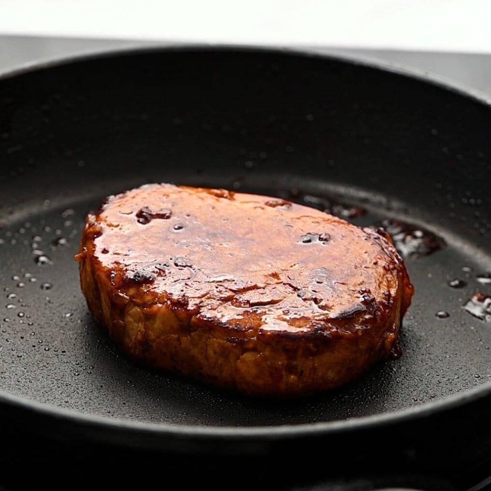 Honey Pork Chop in skillet