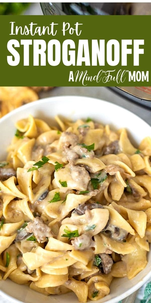 Instant Pot Beef Stroganoff is my family's favorite meal. One dish, and in 30 minutes you have a comforting, hearty from scratch hamburger stroganoff.