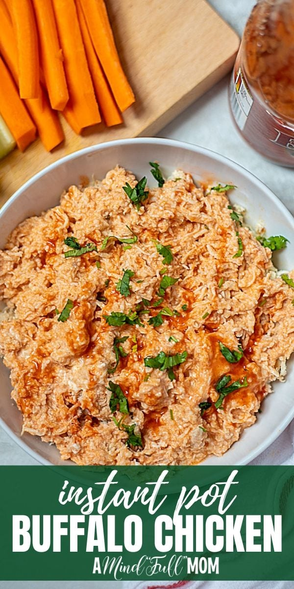 Jam-packed with flavor and a creamy, spicy sauce, Instant Pot Buffalo Chicken makes a perfect base for salads, wraps, sandwiches, tacos, and pizzas! With just a couple of ingredients and very little hand on time, you can have a large batch of perfectly seasoned shredded chicken in about 30 minutes!