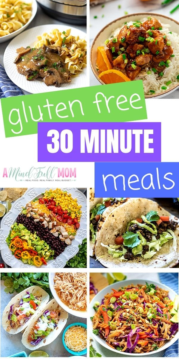 If you are short on time and gluten free, no need to stress! These easy dinner recipes are easy, healthy, gluten free and on the table in 30 minutes or less.
