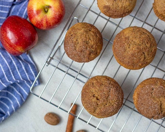 Applesauce Muffin on cooling rack