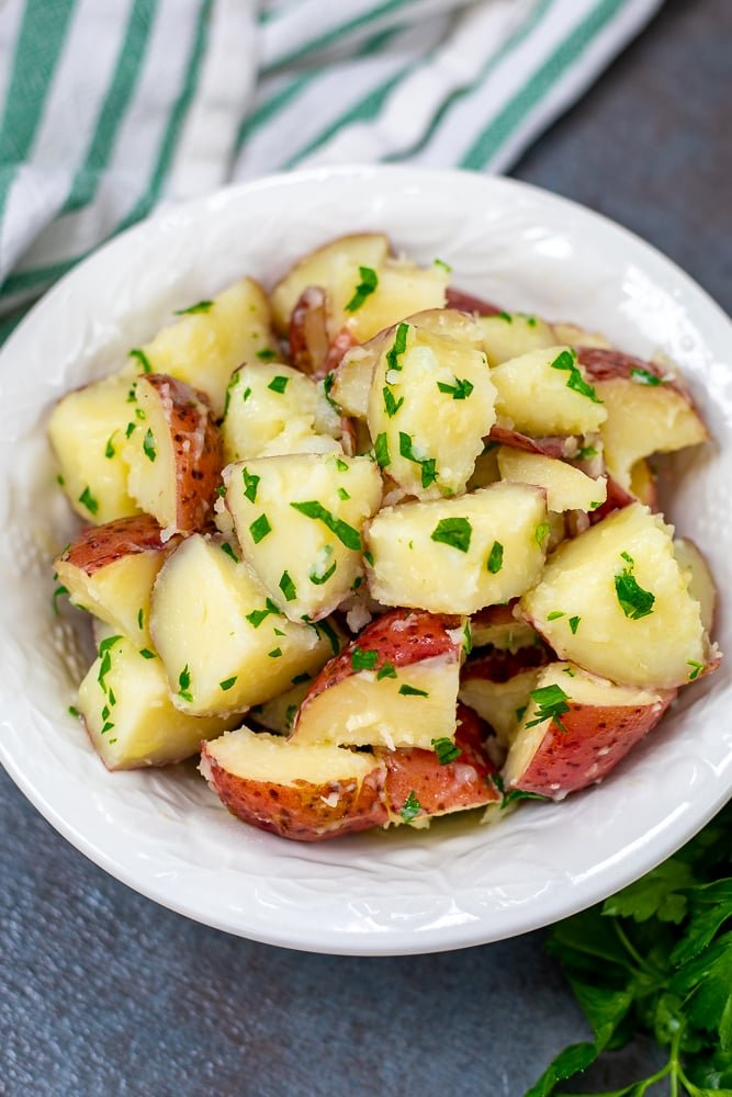 Bowl of Buttered Parsley Potatoes