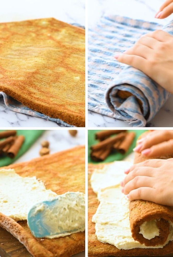 Step by step pictures of how to make pumpkin roll