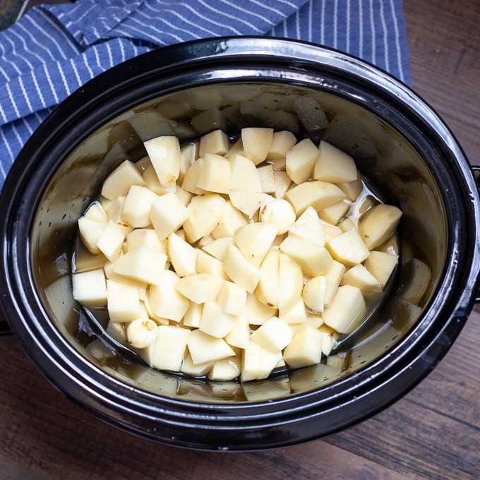 Cubed Potatoes In Slow Cooker
