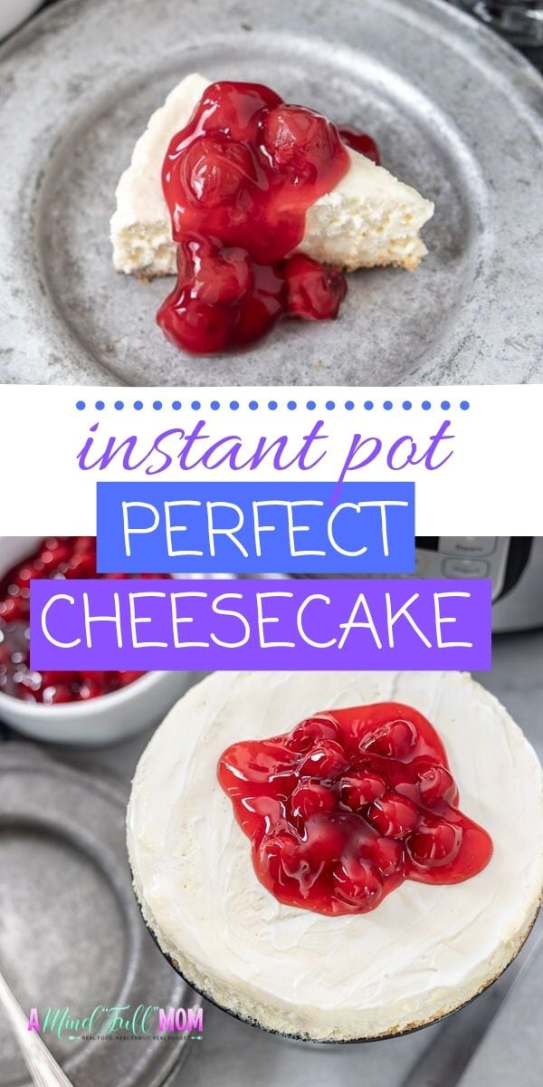 If you are looking for a show stopping dessert--this Instant Pot Cheesecake is it! Baked in the moist heat of the Instant Pot, this Instant Pot Cheesecake turns out perfectly every time! It is easy to make and a hit at any party!