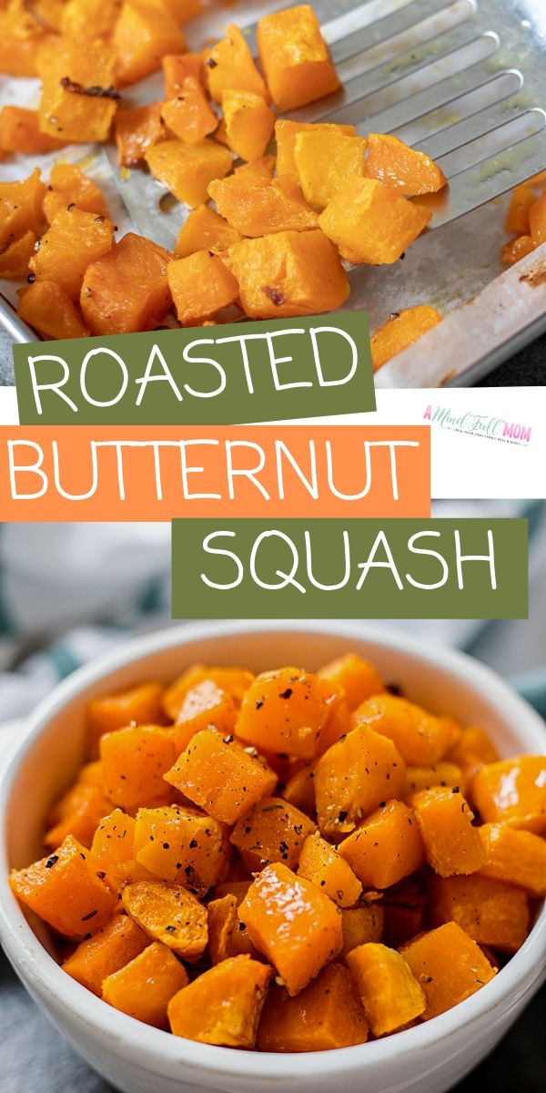 Roasted Butternut Squash is a staple recipe! It is a simple base recipe that's seasonings can be changed up a million different ways, for a healthy, easy side dish.