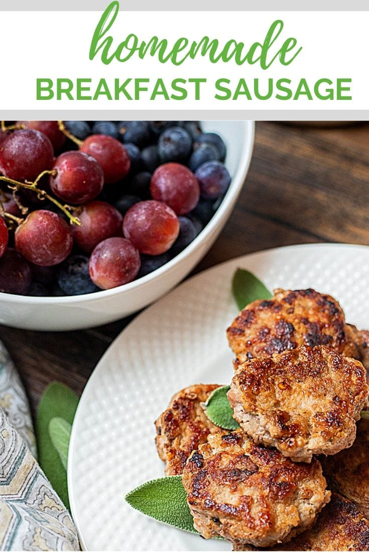 With just a few ingredients and 5 minutes of prep, you can easily make your own Breakfast Sausage! This recipe for Homemade Breakfast Sausage is not only easy to make, it is absolutely delicious! Use it to make sausage patties or ground breakfast sausage and up your breakfast game!