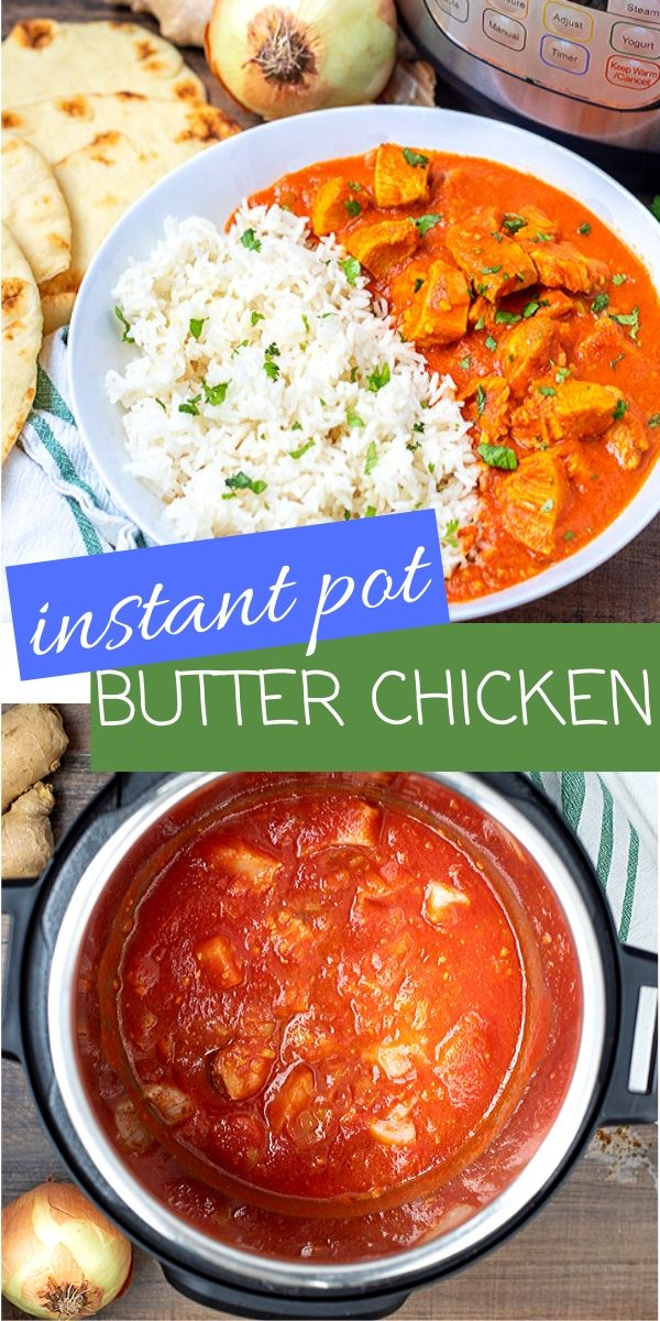 Instant Pot Butter Chicken is a classic Indian dish made with chicken in a richly spiced tomato sauce. This recipe delivers all the traditional flavors of Butter Chicken just in a fraction of the time thanks to the pressure cooker!