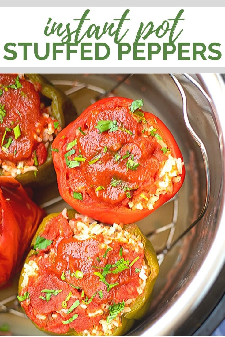 Instant Pot Stuffed Bell Peppers have all the traditional flavors of the classic recipe. No pre-cooking of peppers is needed. This easy Instant Pot Recipe needs to be your next family dinner!