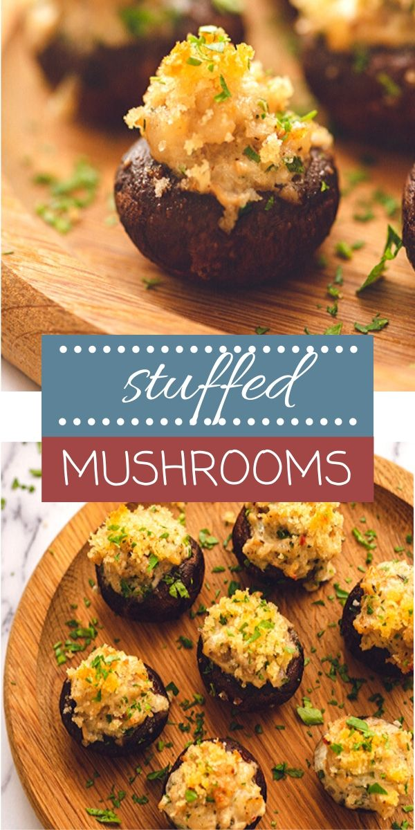 These Creamy, Cheesy Sausage Stuffed Mushrooms make a perfect party appetizer! Can easily be made gluten free and keto friendly as well!