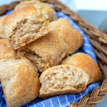 Basket of Whole Wheat Dinner Rolls