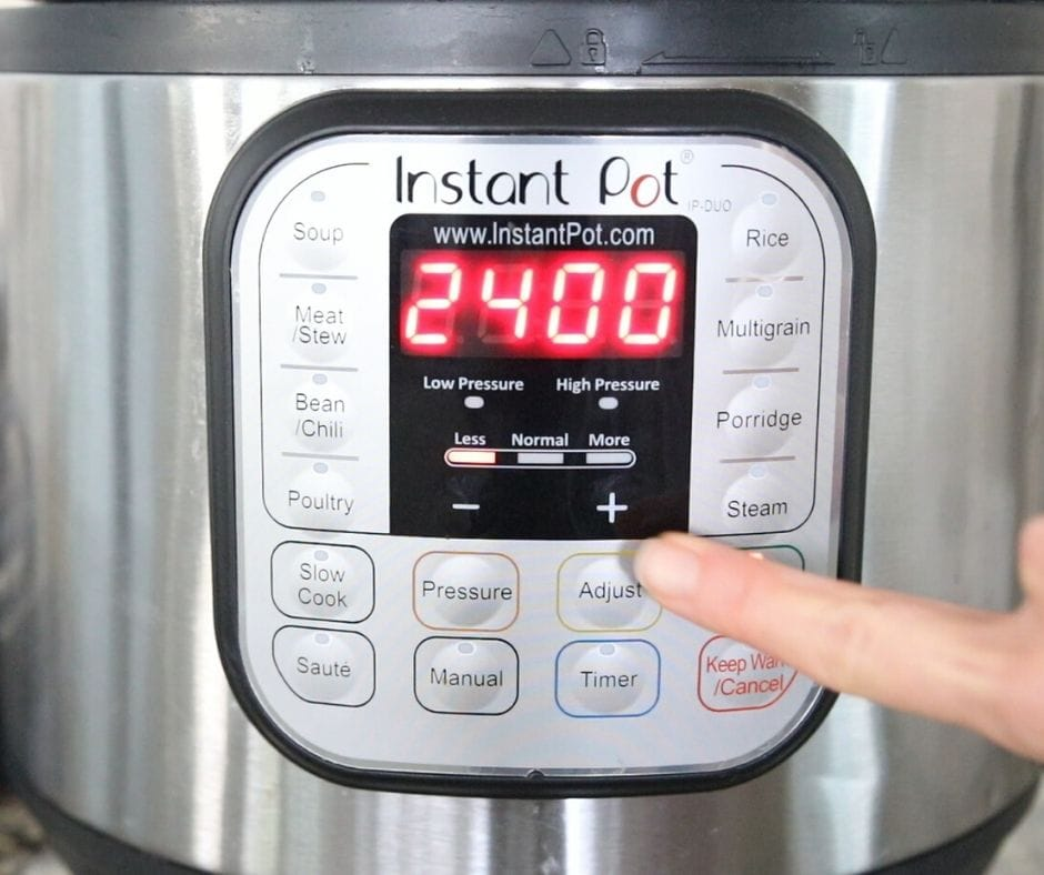 Instant Pot that reads 24 hours