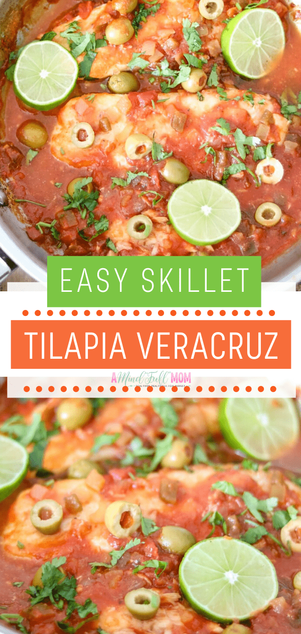 This simple recipe for Fish Veracruz takes a few shortcuts to get dinner on the table in less than 15 minutes. The tangy, briny, acidic sauce flavors white fish fillets well for a fish dinner that has no fishy taste.