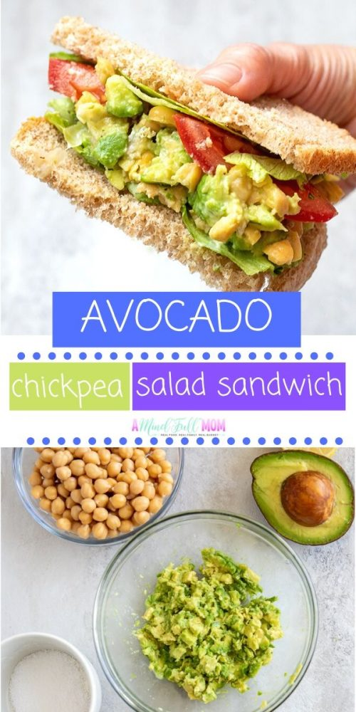 You won't believe how delicious this simple Avocado Chickpea Salad is! Made with chickpeas, avocados, and lime juice, this simple salad is perfect served as a Chickpea Salad Sandwich or alone! If you are looking for more plant based recipes or vegan friendly recipes, this simple recipe for Mashed Chickpea Sandwich is exactly what you need. It is fresh, simple, healthy, easy to make, and most importantly, incredibly delicious!