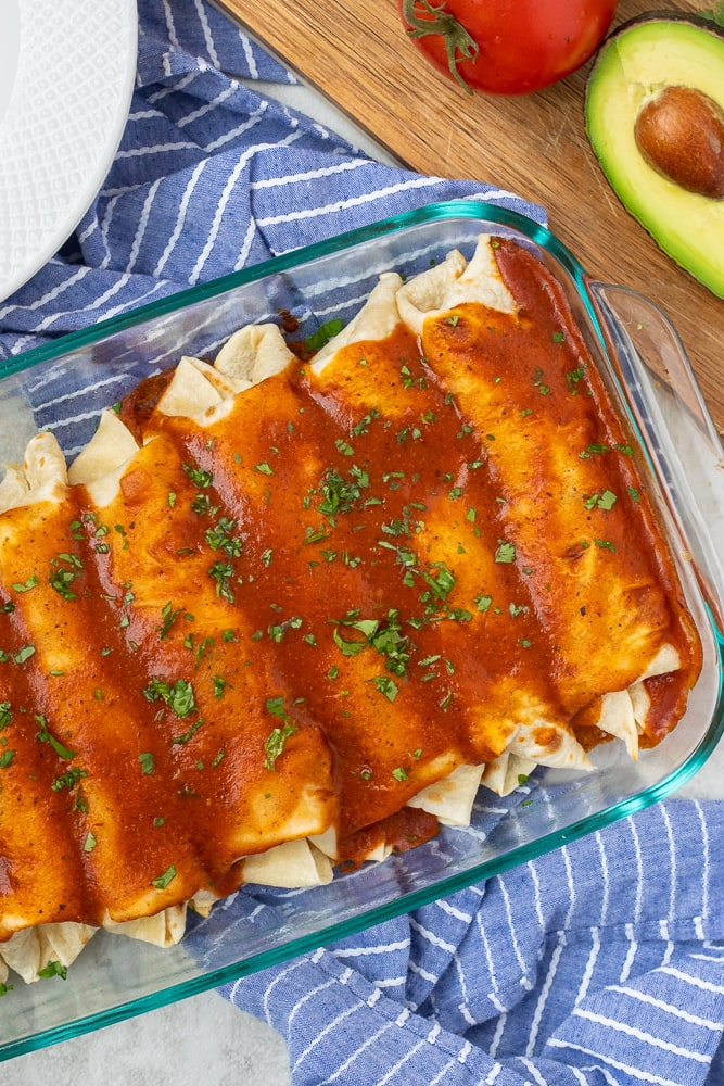 Pan with Baked Vegetable Enchiladas