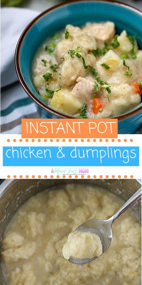 This recipe for Instant Pot Chicken and Dumplings hits a home run when it comes to comforting soup recipes! Tender chicken and fluffy dumplings are enveloped in a rich broth studded with carrots and potatoes. It is a comforting and hearty soup, that is quick enough to prepare for a weeknight dinner.