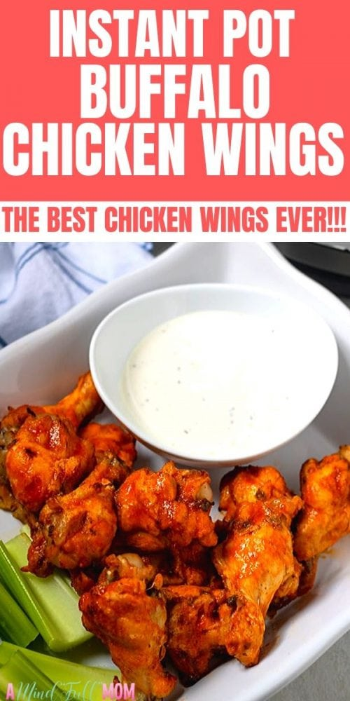 Ready in less than 30 minutes, these Instant Pot Buffalo Chicken Wings  are the most tender and flavorful chicken wings you will ever have. The meat is SO tender--you won't believe how good instant pot wings are! Change up the flavor or use the homemade buffalo sauce and then dig in and enjoy this perfect party appetizer or game day food.