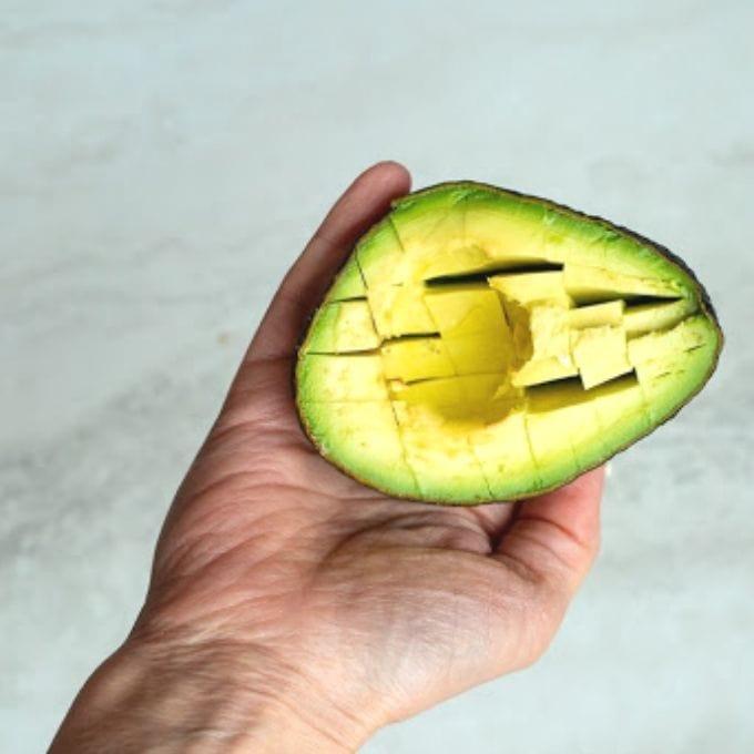 Avocado cut into chunks