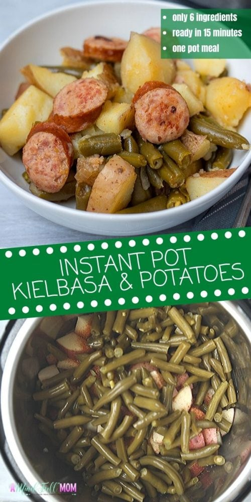 Made with only 6 ingredients and in 15 minutes, this recipe for Instant Pot Smoked Sausage with Potatoes is the definition of a fast family dinner! While the ingredients are humble, the results are pure comfort! This recipe for Kielbasa and Potatoes is a hearty, economical, kid-friendly meal. It is ready in record time thanks to the Instant Pot, making it perfect for those really busy nights!